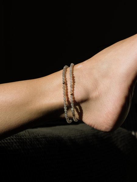 Dajumo Silver Lining Ankle Bracelet Gold