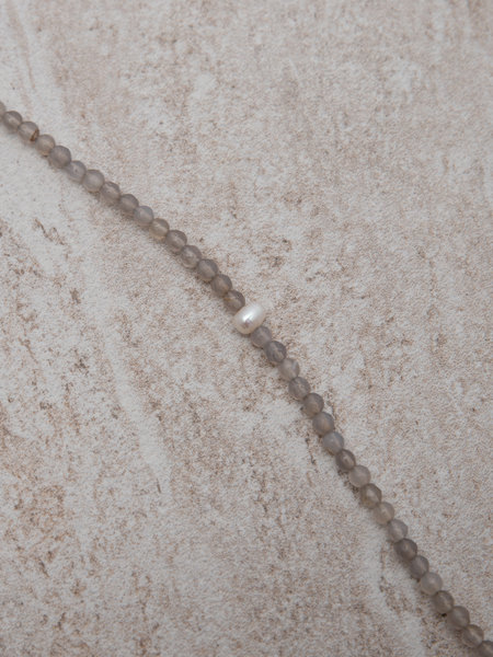 Dajumo Silver Lining Ankle Bracelet Pearl
