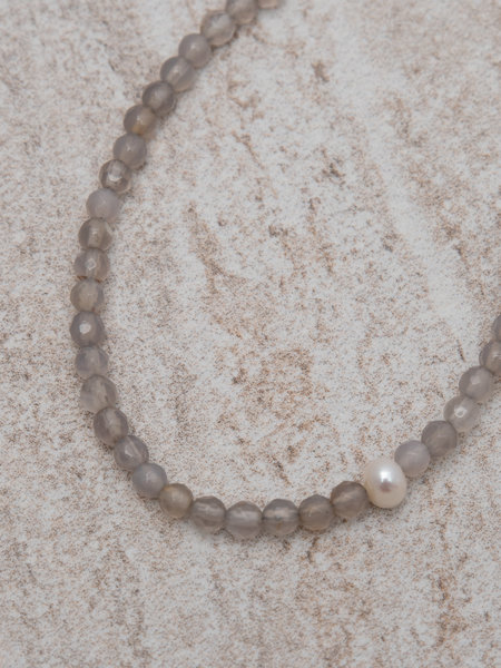 Dajumo Silver Lining  Ankle Bracelet Gold Pearl