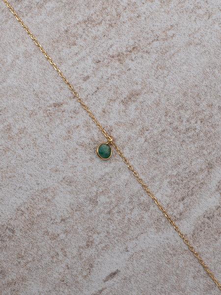 Ess Yello Necklace Mini Dot Green Solo