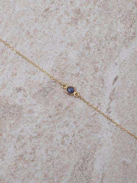 Ess Yello Gold Bracelet Mini Dot Purple