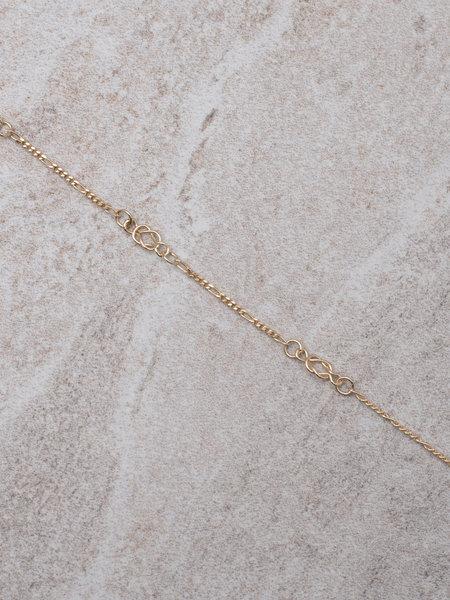 Ess Yello Gold Bracelet Vintage Chain