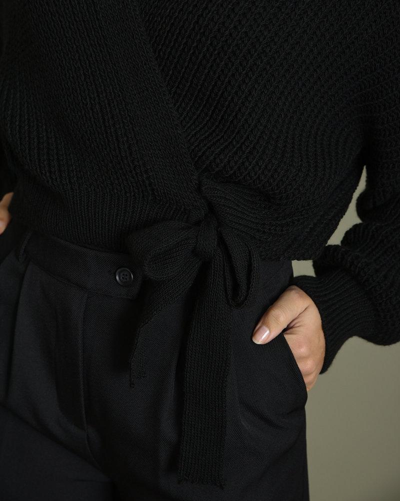 TILTIL Erlijn Wrap Knit Black