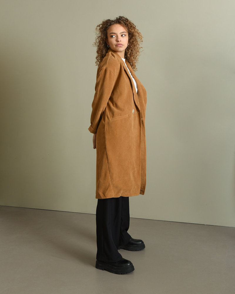 Chloe Rib Jacket Ocher
