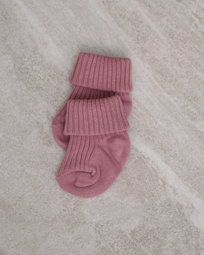 Baby Socks Cotton Rib Wishful Rose