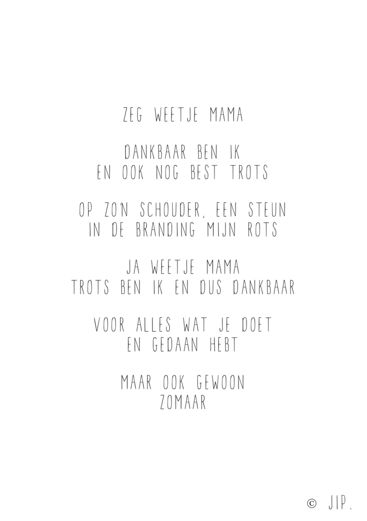 JIP. Postcard - Zeg Weetje Mama
