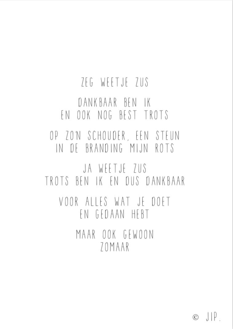 JIP. Postcard - Zeg Weetje Zus