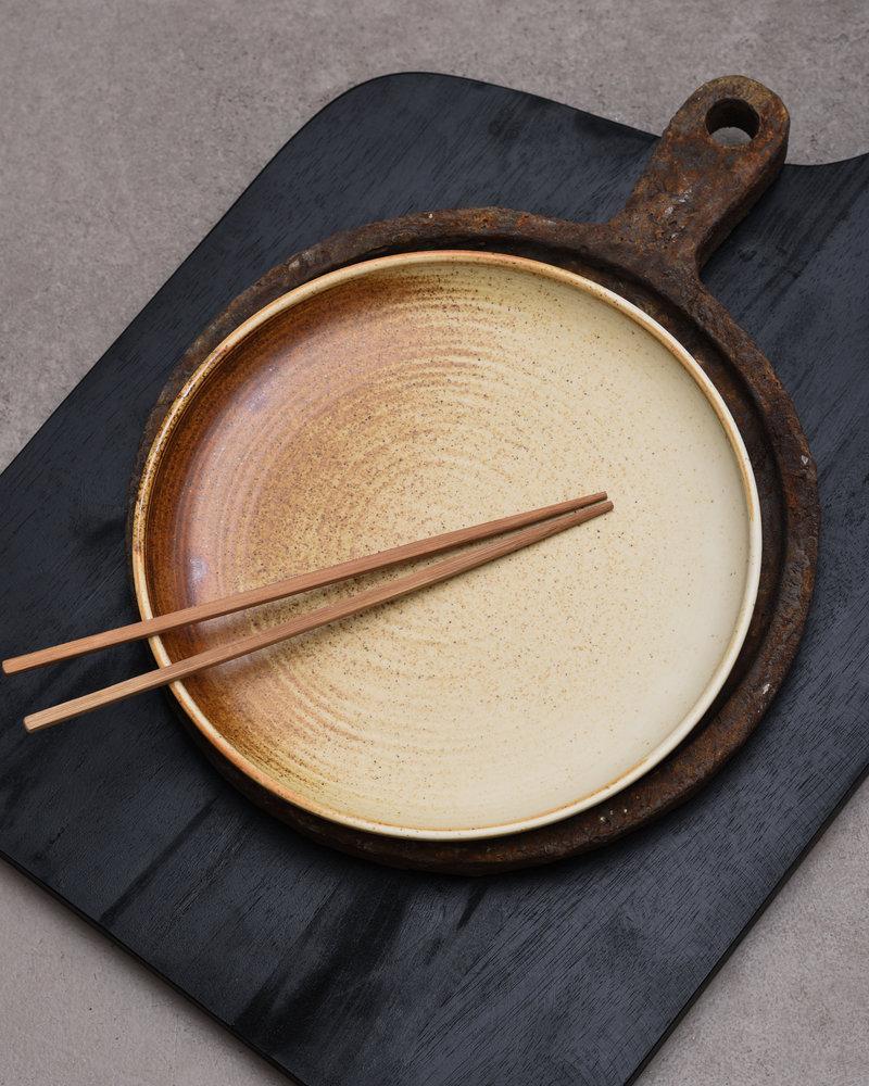 Dinner Plate Rustic Cream/Brown