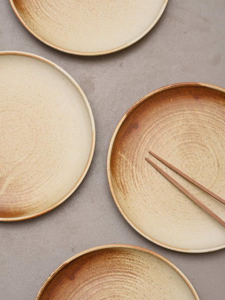 HK Living Dinner Plate Rustic Cream/Brown