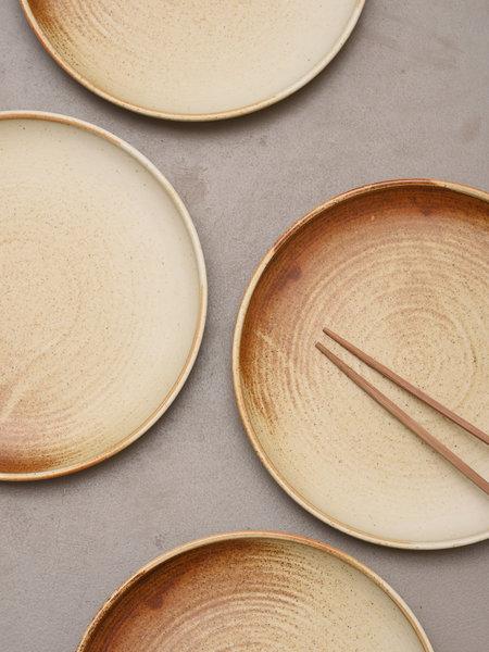 HKliving Dinner Plate Rustic Cream/Brown