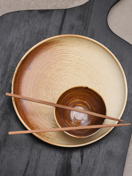 HKliving Small Bowl Rustic Brown
