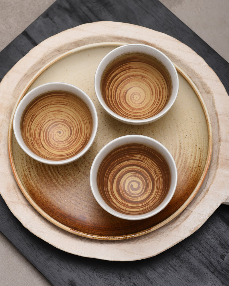 Small Bowl Kyoto Brown/White