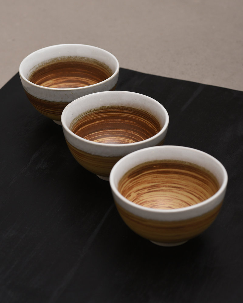 Bowl Ceramic Brown/White