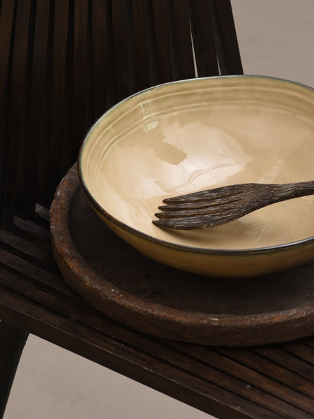 Basik Serving Bowl Tabo Cream