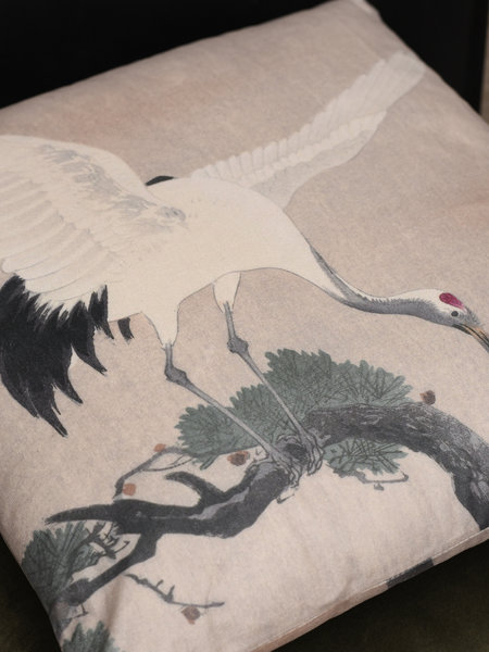 Home Society B.V. Cushion Crane Bird Beige