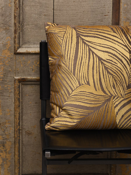 Cushion Leaves Natural Brown/Gold