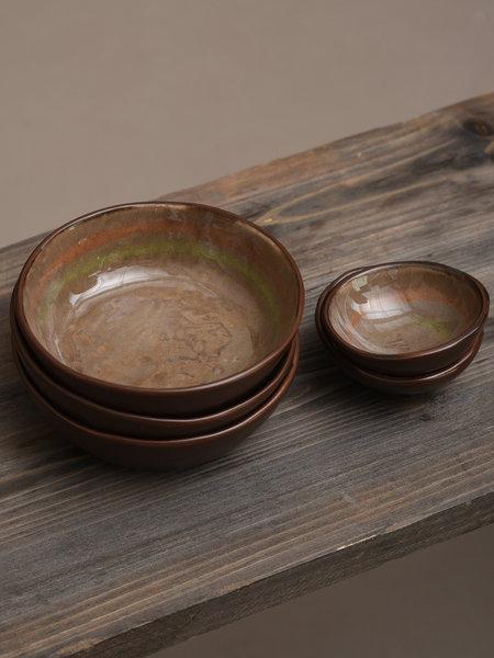 Basik Bowl Todi Brown/Green