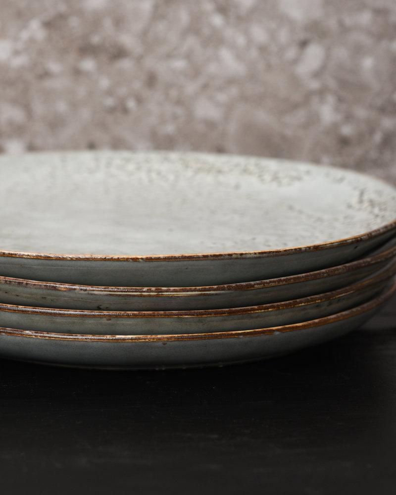 breakfast & Cake Plate Rustic Blue/Grey