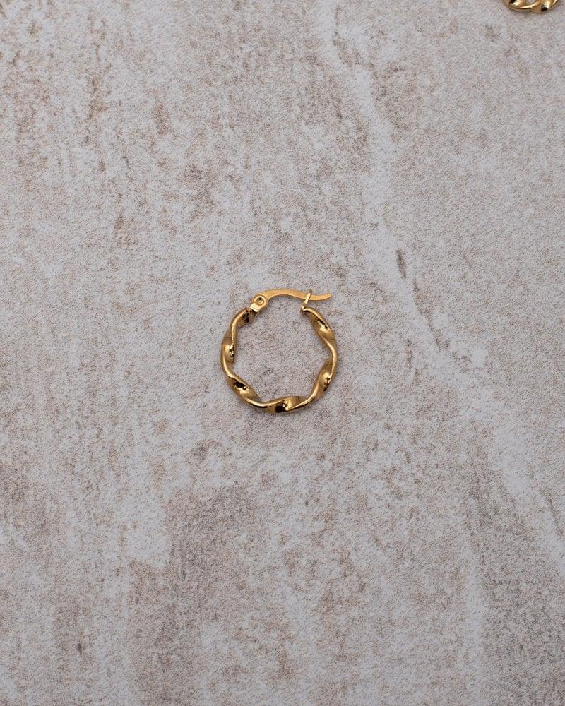 Wave hoop 15MM Gold