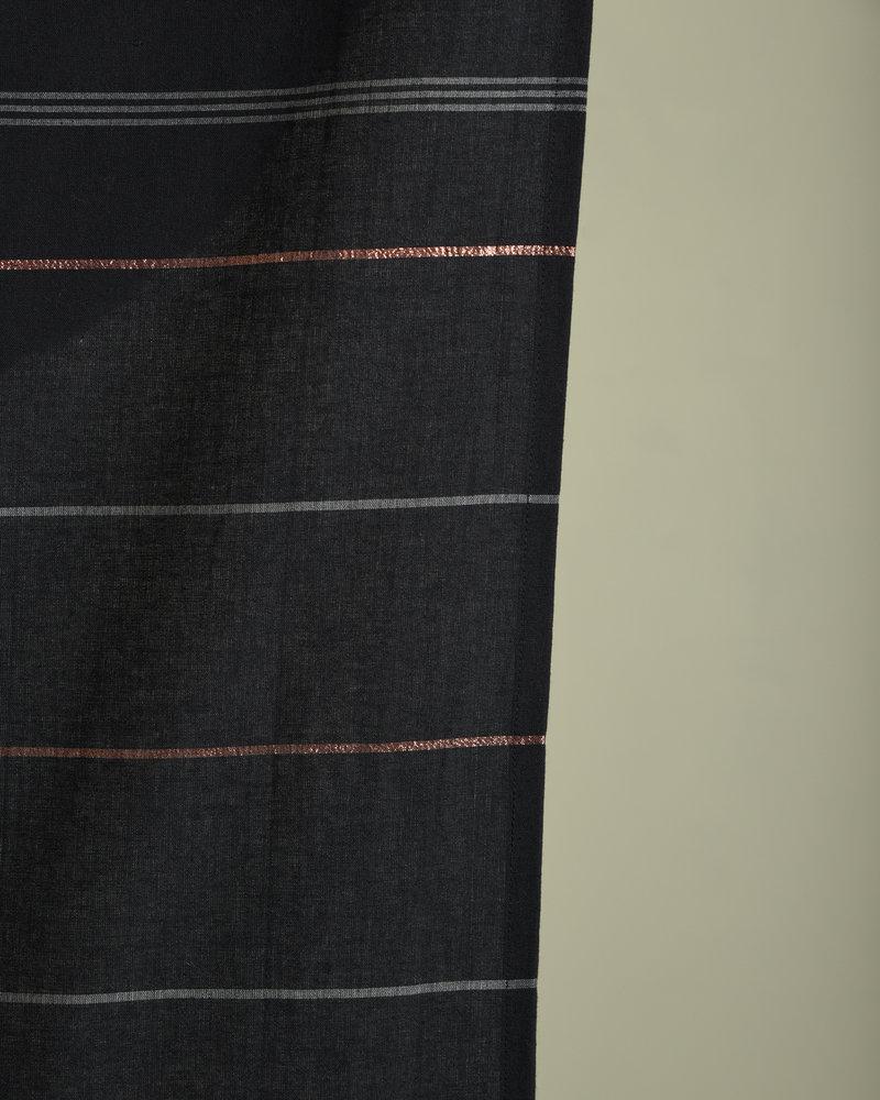 Plaid/Towel Cotton Striped Black Copper