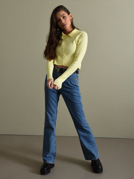NAKD Relaxed Bootcut Jeans Mid Blue