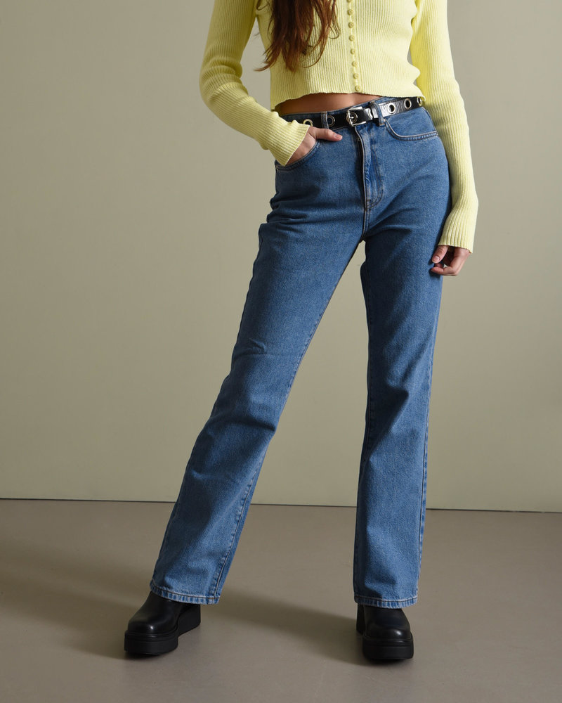 Relaxed Bootcut Jeans Mid Blue