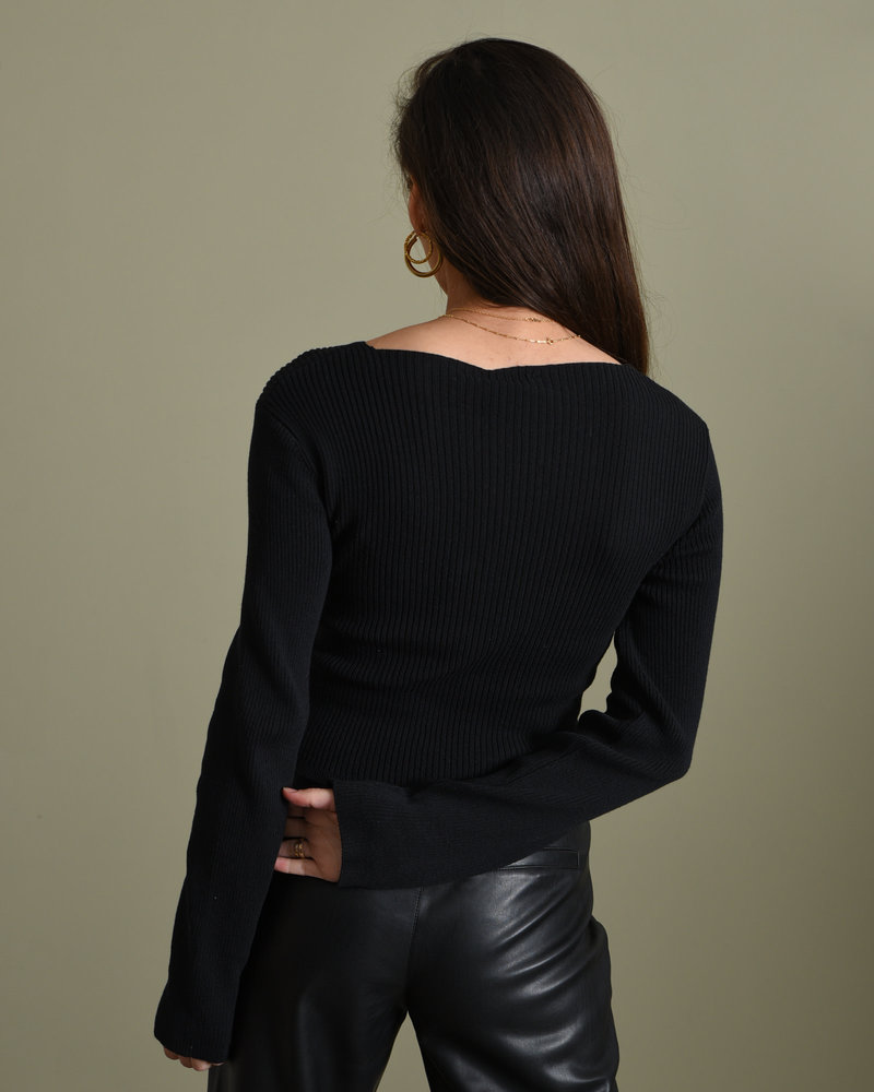 Crossover Sweater Black