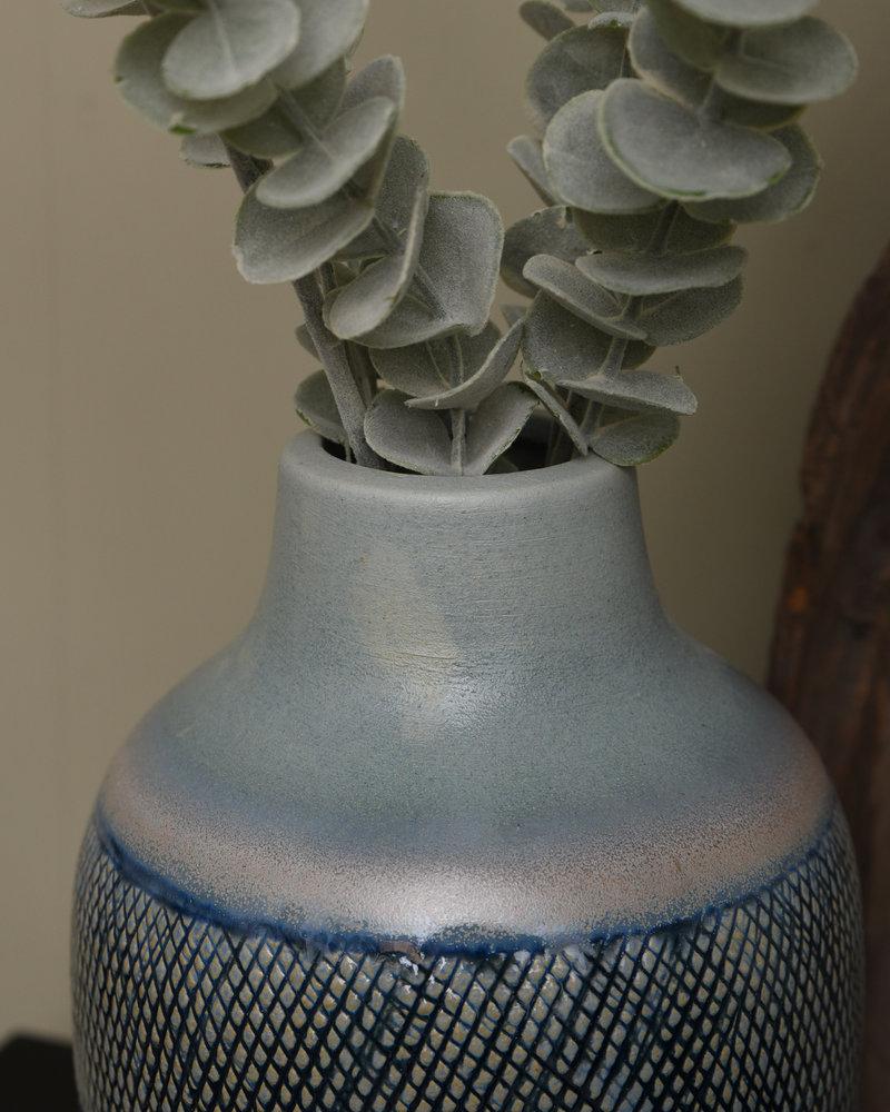 Vase Blue Ceramic