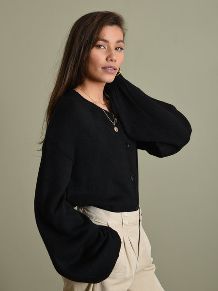 NAKD Short Chunky Knit Cardigan Black