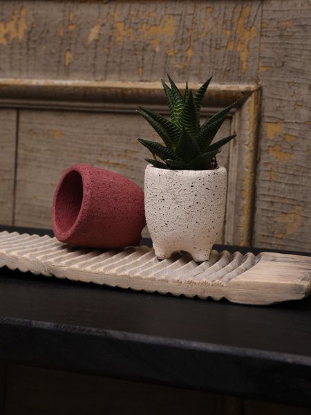 Sass & Belle Planter Leggy Speckled Brick + Sand (SET OF 2)