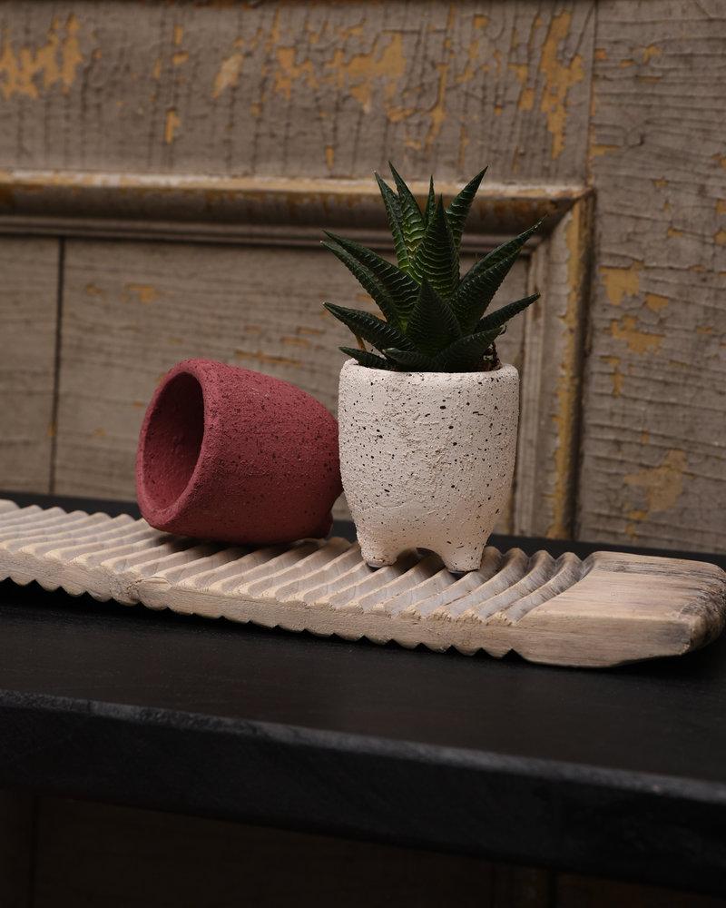 Planter Leggy Speckled Brick + Sand (SET OF 2)
