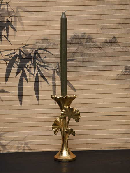 Candle Holder Ginko Gold