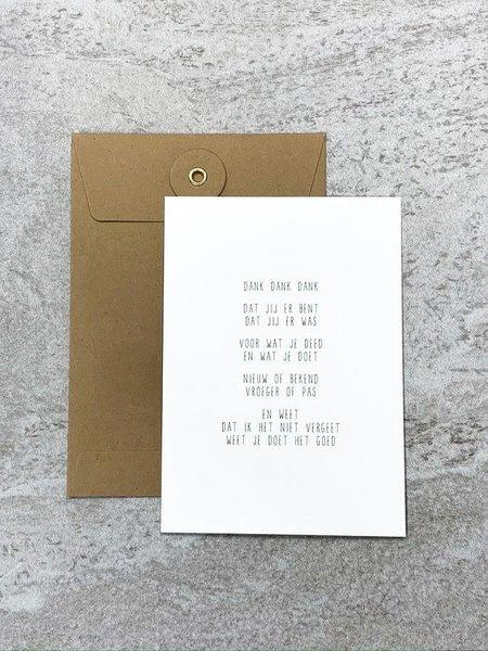 Gewoon JIP JIP. Postcard - Dank, Dank, Dank