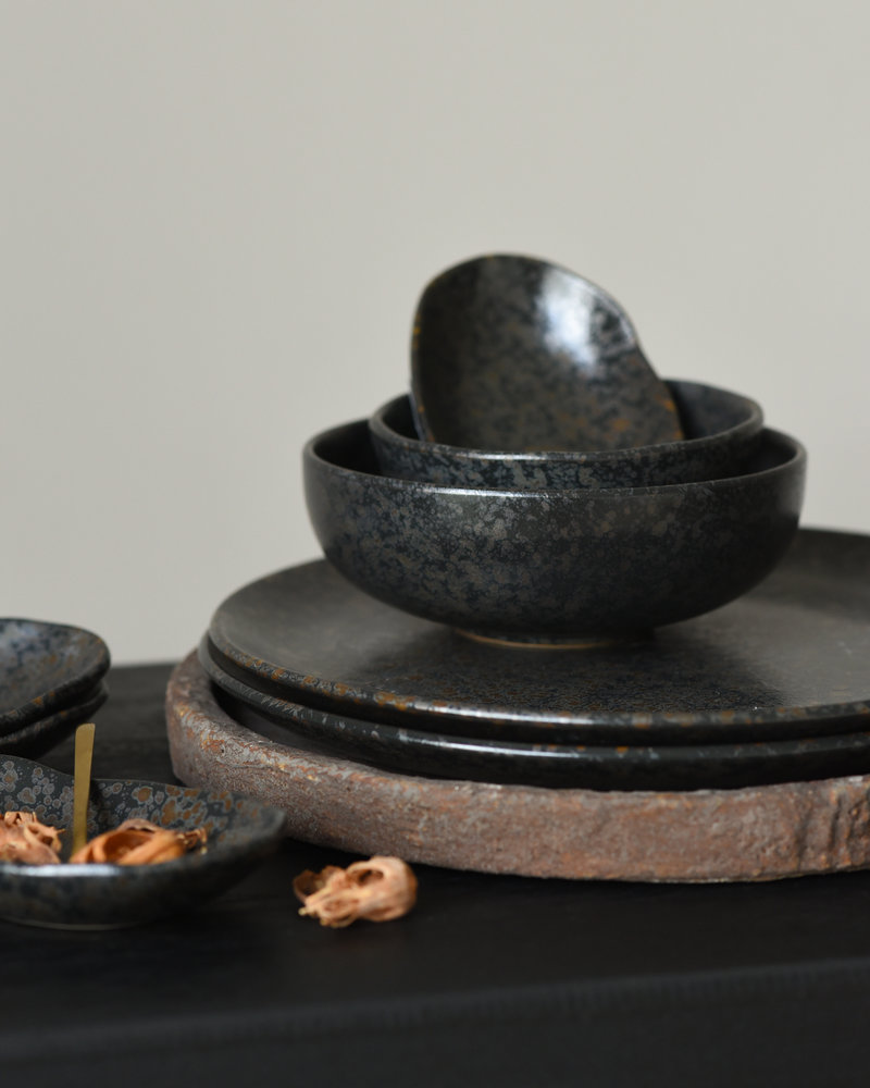 Small Bowl Basalt Black