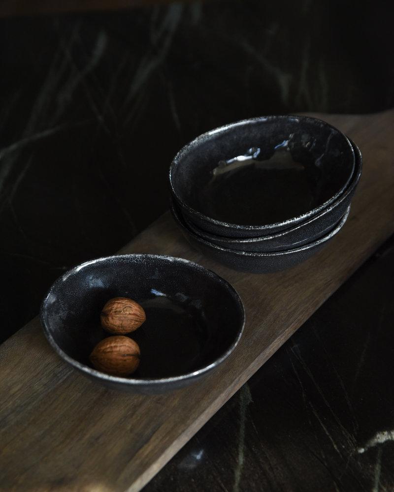 Small Oval Bowl Porcelino Black