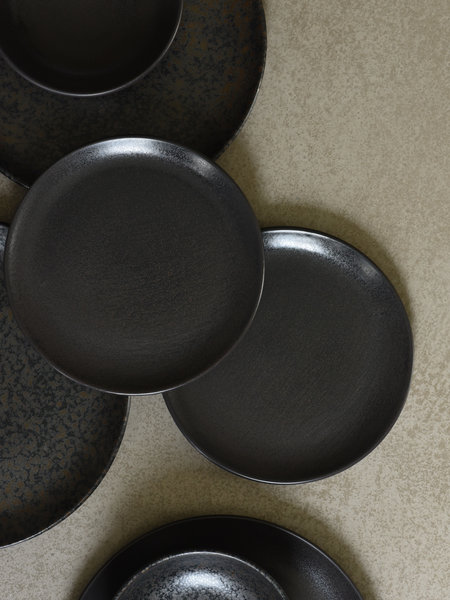 Pomax Breakfast Plate Mirha Granit Grey