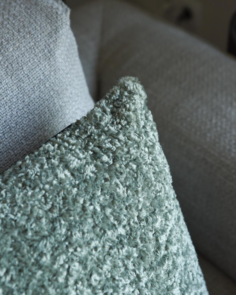 Cushion Mouton Grey Green
