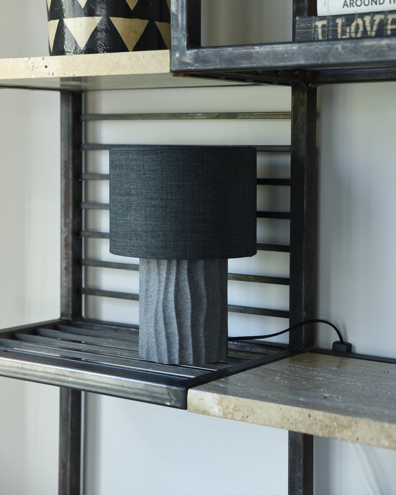 Table Lamp Bora Grey + Shade