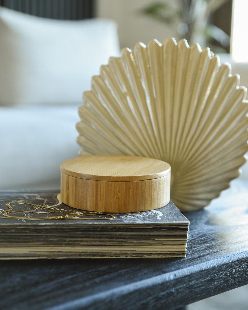 Round Bamboo Jewelry Box