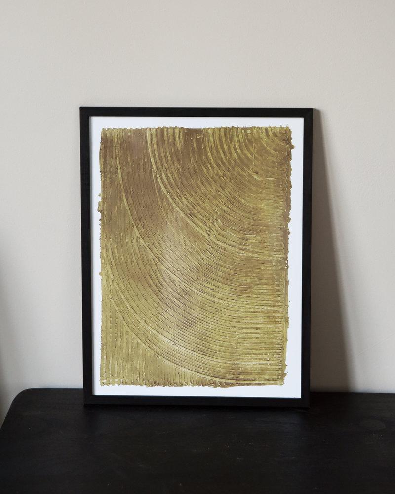 Art Print Ocher + Frame Black Pine