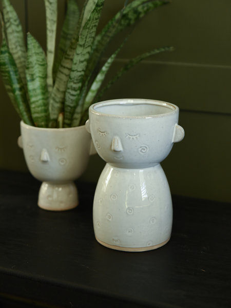 Sass & Belle Vase Glazed Speckled Face