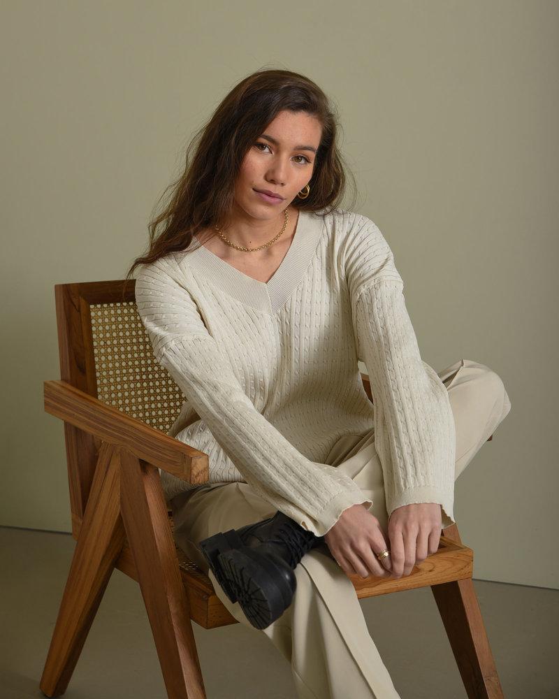 TILTIL Sofia Cable Knit Beige