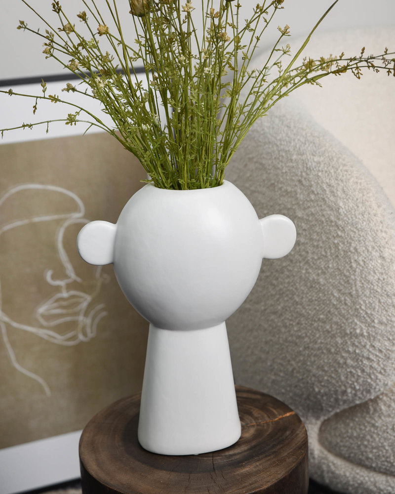 Vase Fine Earthenware White