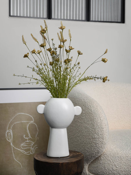 Vase Fine Earthenware White