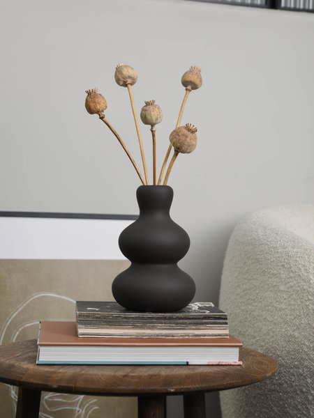 Vase Fine Earthenware Brown