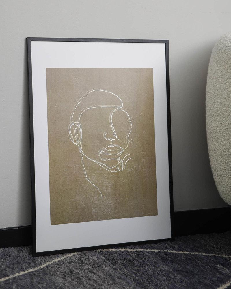 Art Print Hakeem + Frame Black Pine