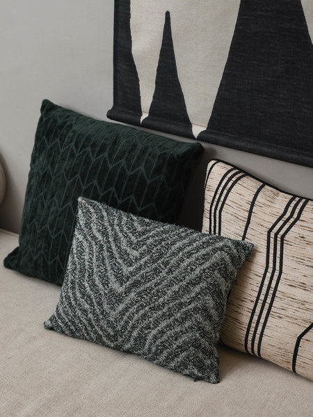 HKliving Cushion Jacquard Weave Zigzag