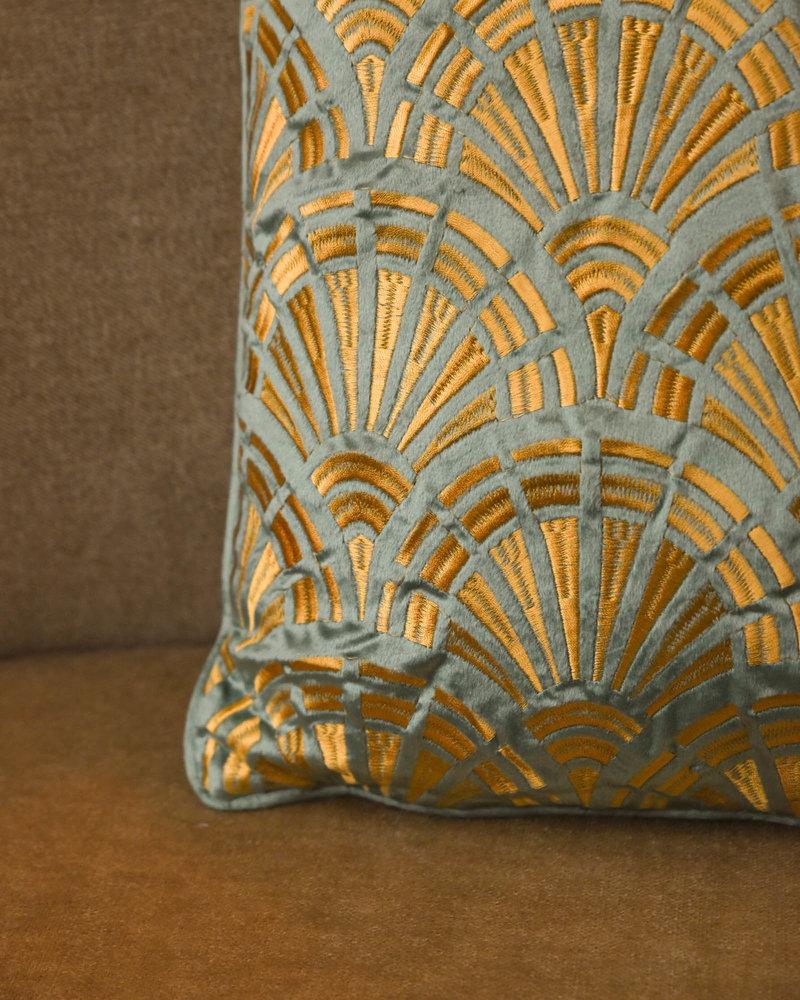 Green Gold Detail Cushion