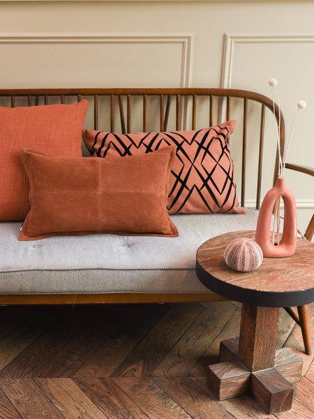 Cushion Vintage Suede Cognac
