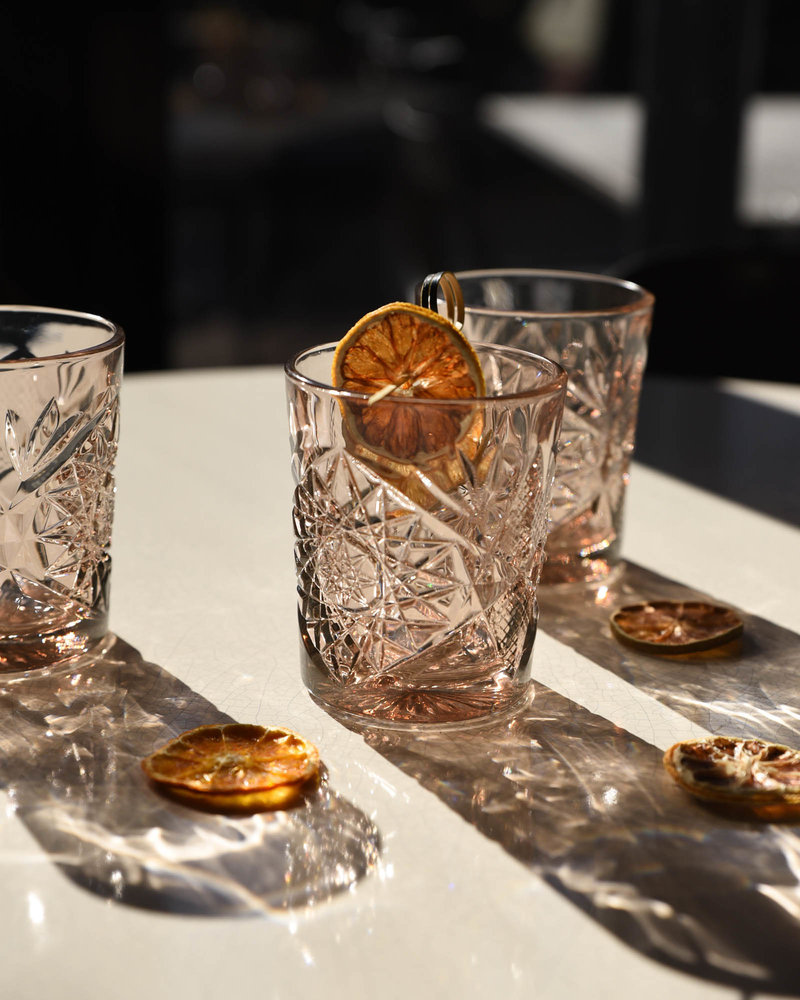 Hobstar Glass Sun Rose